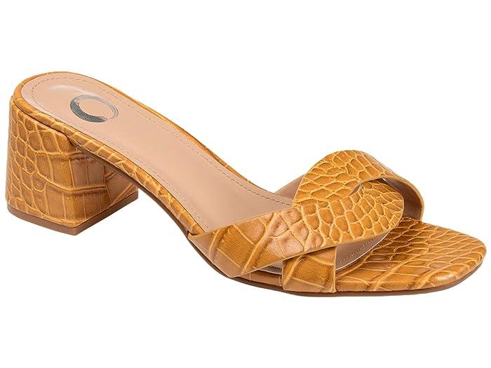 Vintage Sandals | Wedges, Espadrilles – 30s, 40s, 50s, 60s, 70s Journee Collection Perette Slide Yellow Womens Shoes $49.99 AT vintagedancer.com