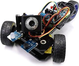 Freenove Three-Wheeled Smart Car Kit for Raspberry Pi 4 B 3 B+ B A+, Robot Project, Tutorial and Code, APP Control, Live V...