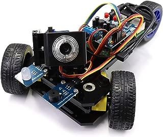 Freenove Three-Wheeled Smart Car Kit for Raspberry Pi 4 B 3 B+, Robot Project, Tutorial and Code, Android APP, Video Camera Wi-Fi Wireless RC Servo Ultrasonic
