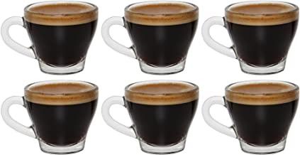 idea-station Tazas para Espresso 6 Piezas, 80 ml, Transparente, Tazas Cafe, Taza Cafe, Taza Expresso, Juego de Cafe, Vaso Cafe, Vasos Cafe