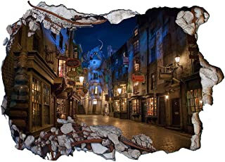 Chicbanners Harry Potter Diagon Alley 3D Wall Smash V203 Wall Sticker Self Adhesive Poster Wall Art Size 1000mm wide x 600mm deep (large)