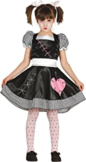 Girls Killer Rag Doll Halloween Horror Film TV Book Scary Cute Carnival Fancy Dress Costume Outfit 5-12 yrs