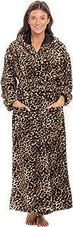 Women's Plush Double Sided Flannel Fleece Robe with Hood,...