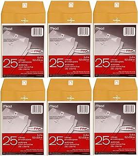 Mead Clasp Envelopes, 6 x 9 Inchs, 25 per pack, 6 Pack = Total 150 Envelopes