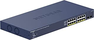 Netgear GS716TPP 16 Port Gigabit Ethernet LAN PoE Switch Smart (met 16x PoE+ 300W, 2x 1G-SFP, Insight Cloud Management, De...