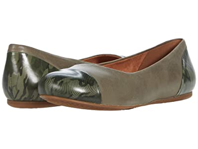 SoftWalk Sonoma Cap Toe (Green Leather) Women
