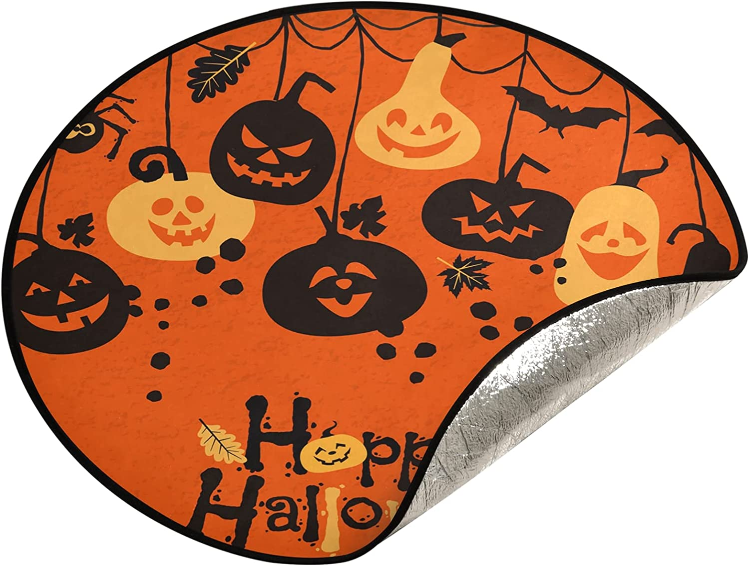 Qilmy Halloween Challenge the lowest price of Japan ☆ Pumpkin Tree Waterproof Attention brand Christmas Mat Stand