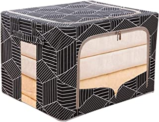 Boîtes de rangement pliables Corbeilles à papier, avec fenêtre transparente transparente, boîte de rangement avec couvercl...