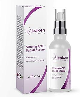Vitamine C Serum Voor Gezicht met Hyaluronzuur - Gezichtserums voor de Rijpe Huid Verbeterd met Vitaminen A E - Betere Ant...