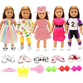 10 Pairs  Shoes Party Dress Doll Shoes  Dolls Accessories Gift Ts W GF