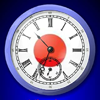 Japan Flag Alarm Clock *Wake Up to Japan National Anthem. Easy Set Up. Tap Red Numbers to Set Alarm*