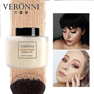 VERONNI Best ProTranslucent Banana Loose Powder Fundation Makeup 4 colors Luxury Powder Face Concealer Setting Makeup 1.5oz/42g (#03)