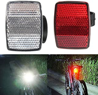Furren Bicycle Accessories,letaowl Bike Light Bike Cycling Bicycle Rear Reflector Tail Light for Luggage Rack Aluminum Alloy Reflective Taillight Accessories Battery Not Included