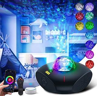 پروژکتور ستاره پروژکتور هوشمند Galaxy Galaxy پروژکتور Galaxy Light برای اتاق خواب پروژکتور نور شب Wave Ocean با تایمر کنترل از راه دور Sky Night Light Star Bluetooth Bluetooth بلندگوی موسیقی برای کودکان بزرگسال