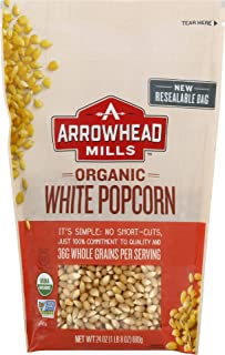 Arrowhead Mills Organic White Popcorn, 24 oz. Bag (Pack of 6)