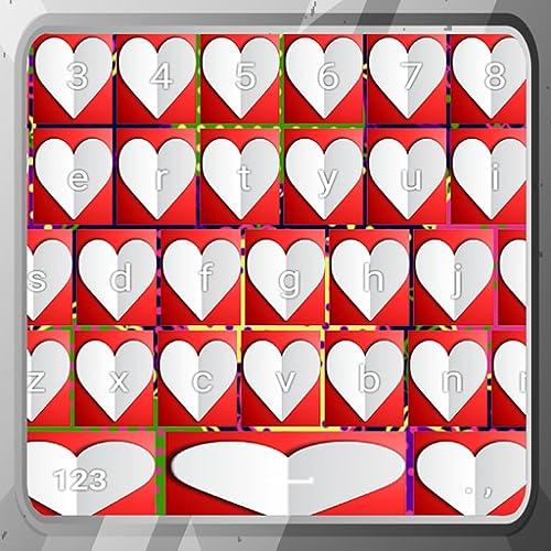 Schöne Herzen Tastaturen