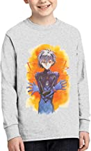 Not Applicable Youth Boys EVA Evangelion Nagisa Kaworu Long-Sleeve T-Shirt Graphic Tees