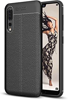 ESYI AYSMG For Huawei P20 Pro Litchi Texture Soft TPU Protective Back Cover Case(Black) (Color : Black)