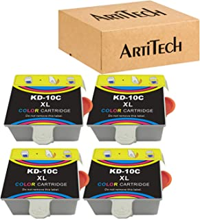 بدائل لخرطوشة الحبر المتوافقة مع Kodak 10XL 10C 10 من 4 عبوات حبر اللون تستخدم لكاميرا Kodak 5100 5300 5500 ESP3250 ESP525...