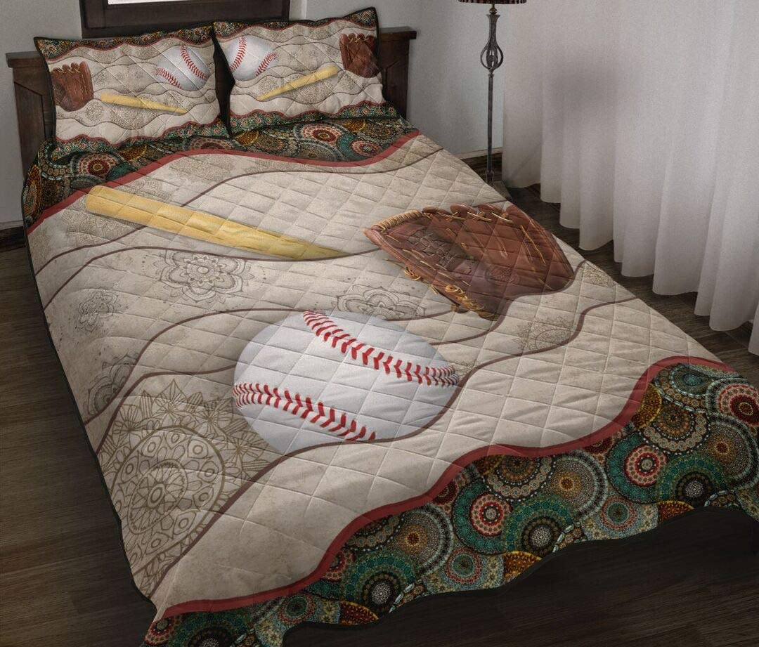 Personalized Selling rankings Baseball Quilt Gift for Set Bed low-pricing Your Lovers