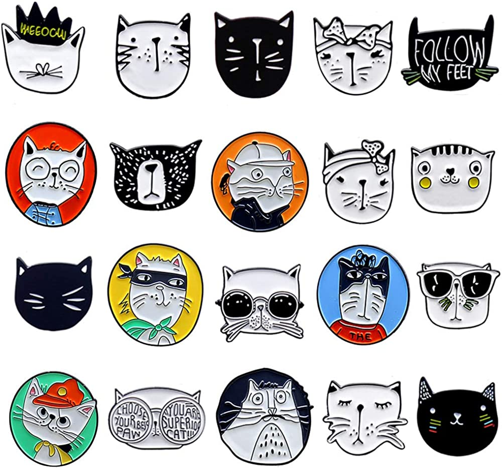 Cats Club Enamel Cartton All items in the store Black Cat Pin ...