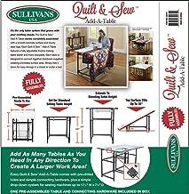 Sullivans Quilt & Sew Add-A-Table-White Fob: MI