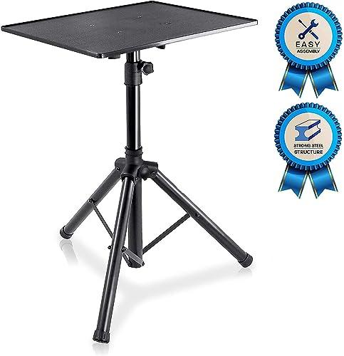 Pro DJ Laptop, Projector Stand - Adjustable Laptop Stand, Computer DJ Equipment Studio Stand Mount Holder, Height Adj...