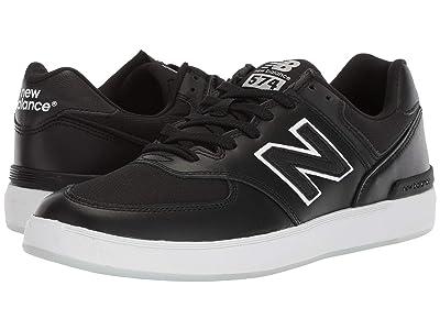 New Balance Numeric AM574 (Black/White) Men