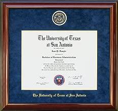 Wordyisms UT San Antonio (UTSA) Diploma Frame with Suede Mat and Embossed School Seal