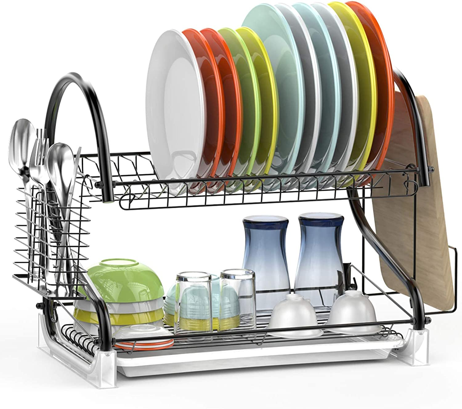 Max 78% OFF Dish Dying Rack Ace Teah 2 Holder Pl Brand Cheap Sale Venue Tier Utensil with