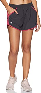 Under Armour Women's Fly By Running Shorts, Grey (045)/Reflective, X-Small