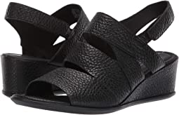 a98d21f5f3bc Black Cow Leather. ECCO. Shape 35 Wedge Sandal