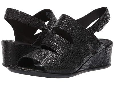 ECCO Shape 35 Wedge Sandal (Black Cow Leather) Women