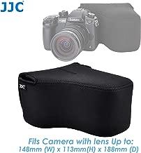 JJC Ultra Light Neoprene Camera Case for Canon EOS R EOS RP W/ 24-105mm Lens 80D 70D 750D W/ 18-135m, 17-85mm 18-55mm Lens, Case for Nikon D7500 D7200 D5500, Panasonic GH5 GH5S W/ 12-60mm Lens