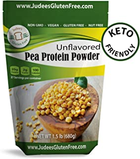 Pea Protein Powder 80% protein 1.5 lb (3.0 lb also), Non-GMO, Vegan, Gluten & Nut Free- Boost your recipes and smoothies with 20 grams protein/serving