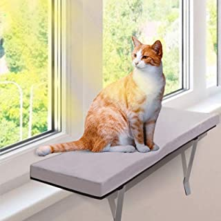Masthome 猫窓用ベッド ウインドウベッド キャットソファー 付き 折りたたみ可能 取り付けタイプ 窓際ペットベッド お昼寝 日光浴 通気 ストレス解消