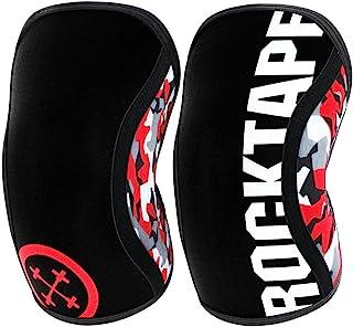 RockTape Assassins–Rodilleras Unisex (5 mm), Estampado de Camuflaje en Rojo