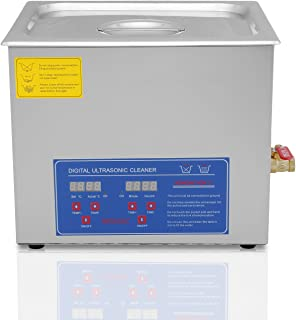 Chaneau Nettoyeur A Ultrasons 10L Ultrasonic Cleaner Professionnel Nettoyeur Digital Affichage Ultrasonique (10L)