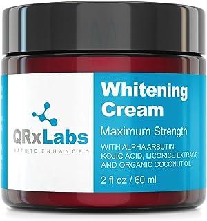 Skin Whitening Cream with 2% Alpha Arbutin, Kojic Acid & Licorice Root Extract – Maximum Strength Brightening for Face, Ne...