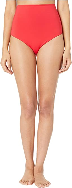 Pansy Print Drapped High-Waist Bikini