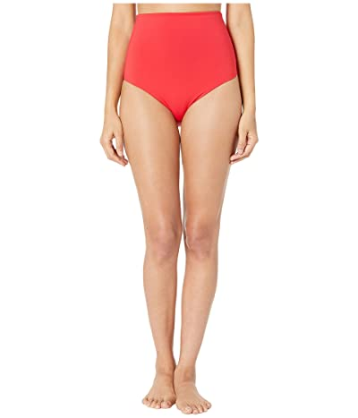 Stella McCartney Pansy Print Drapped High-Waist Bikini (Red) Women