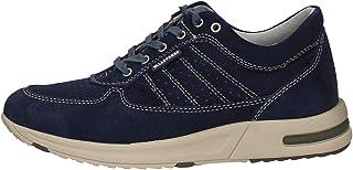 VALLEVERDE Sneakers Scarpe Uomo in Pelle Blu Casual