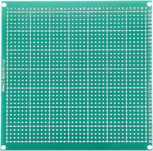 sourcing map 5x7cm universel simple face circuit imprim/é souder bricolage 10pcs