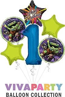 Ninja Turtles Happy Birthday Balloon Bouquet 6 pc, 1st Birthday, | Viva Party Balloon Collection