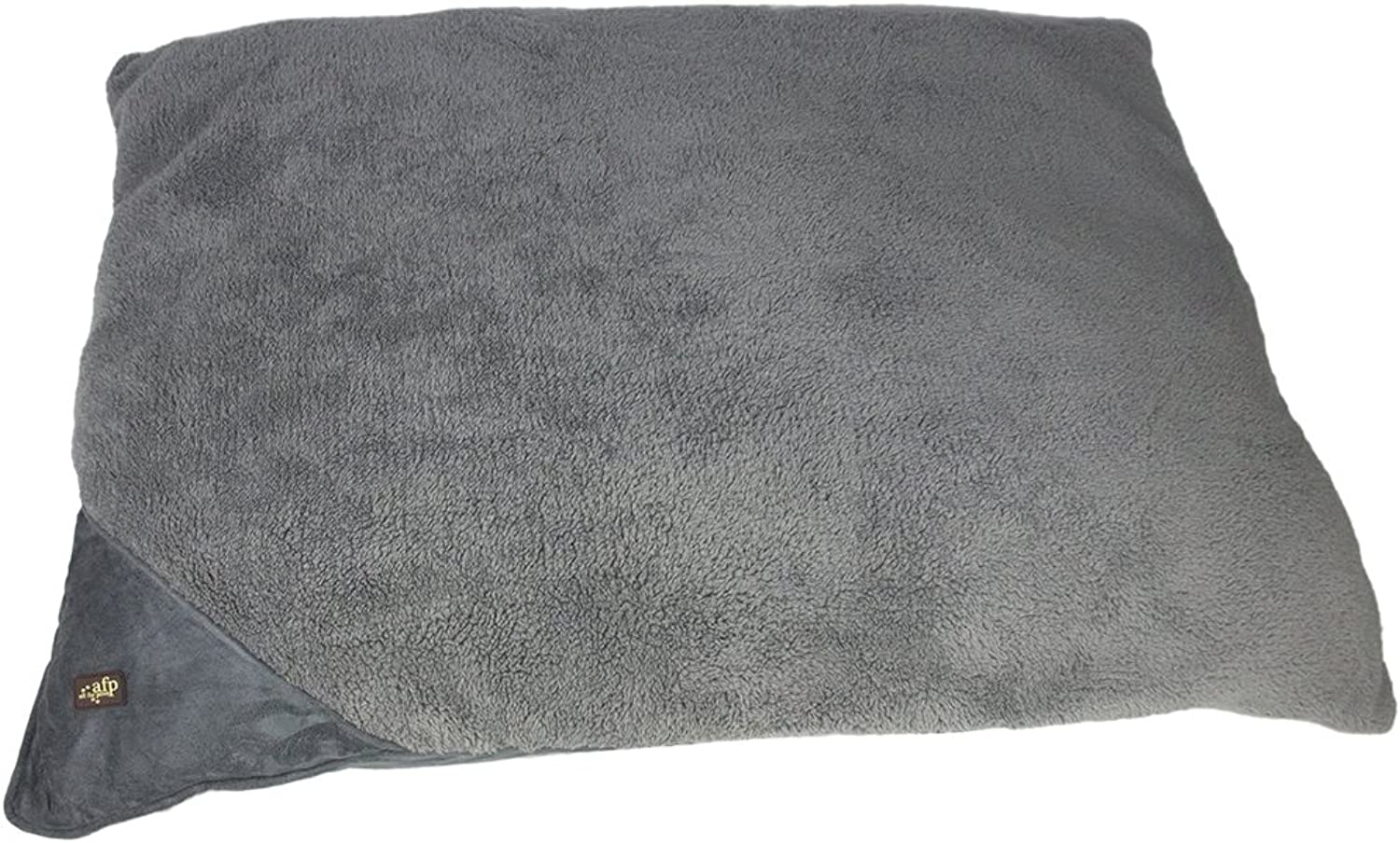 All for Paws 23 by 29Inch Lambswool Pillow Bed, Small, Grey