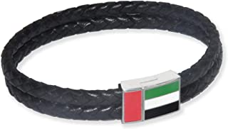 FIS Bracelet With Genuine Leather Black Color - FSCLBRACELET