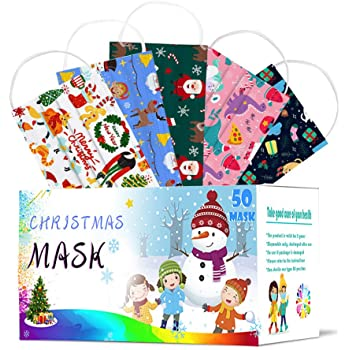 riou 50 Piezas Niños Protección Desechable Transpirables, infantil de Dibujos Animados para Actividades al Aire Libre, Escuela, Fiesta