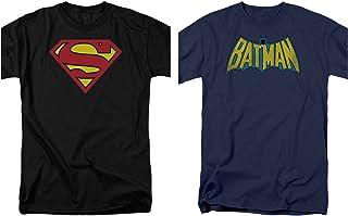 634a703f3ca9 2 Pack Combo Superman   Batman Logo DC Comics Black and Blue Men s ...
