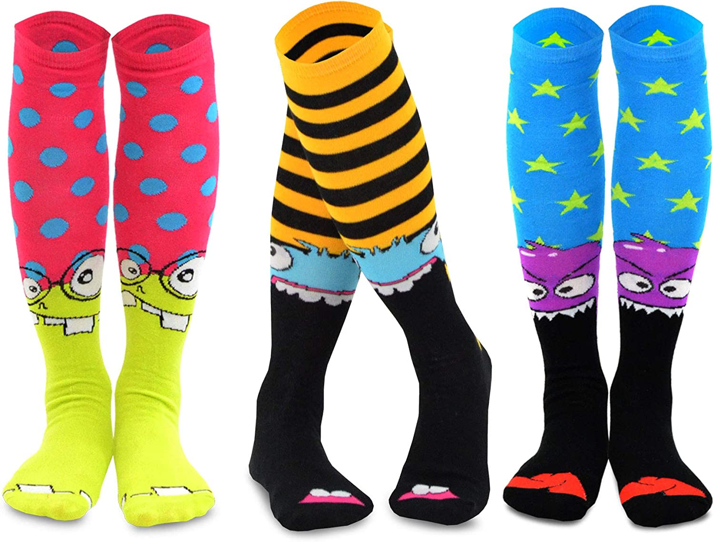 TeeHee Novelty Cotton Knee High Fun Socks 5 or 6 pair for Women