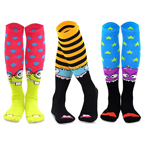 ac064876c31 TeeHee Novelty Cotton Knee High Fun Socks 3-Pack for Junior and Women